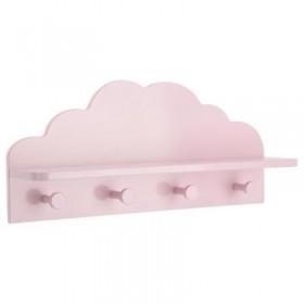 Perchero nube rosa Decoración Infantil Percheros y estanterías Muemue - Muebles
