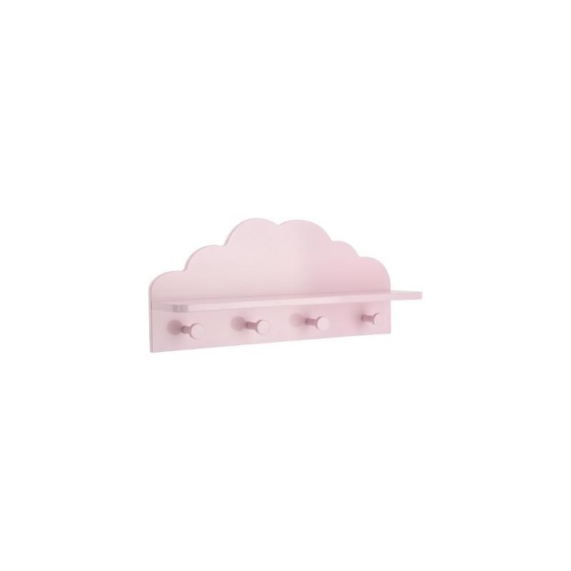 Perchero nube rosa