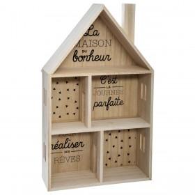 Estantería casita de madera