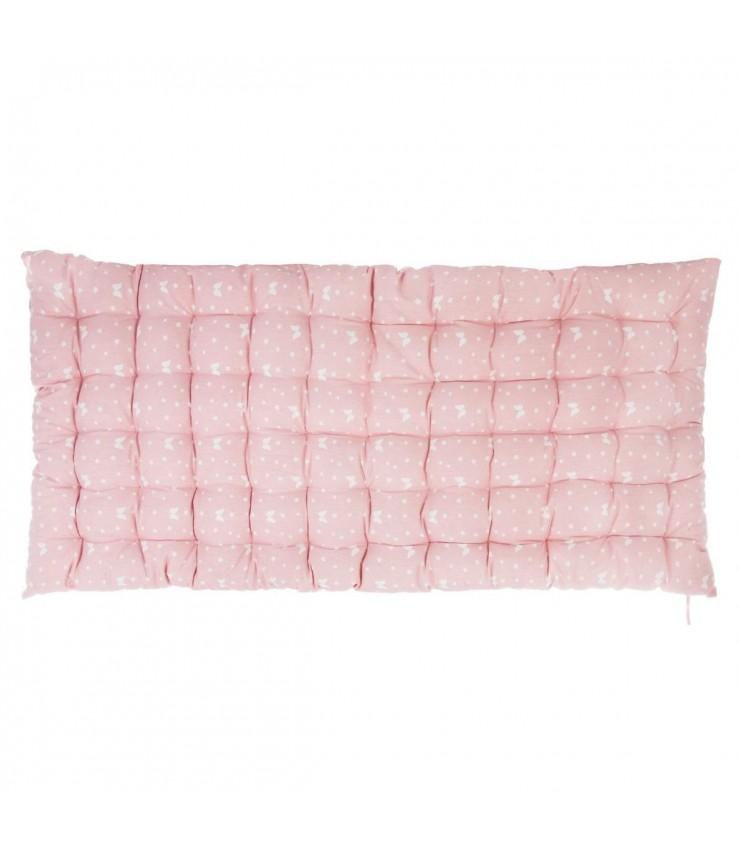 colchón de suelo rosa y alas
