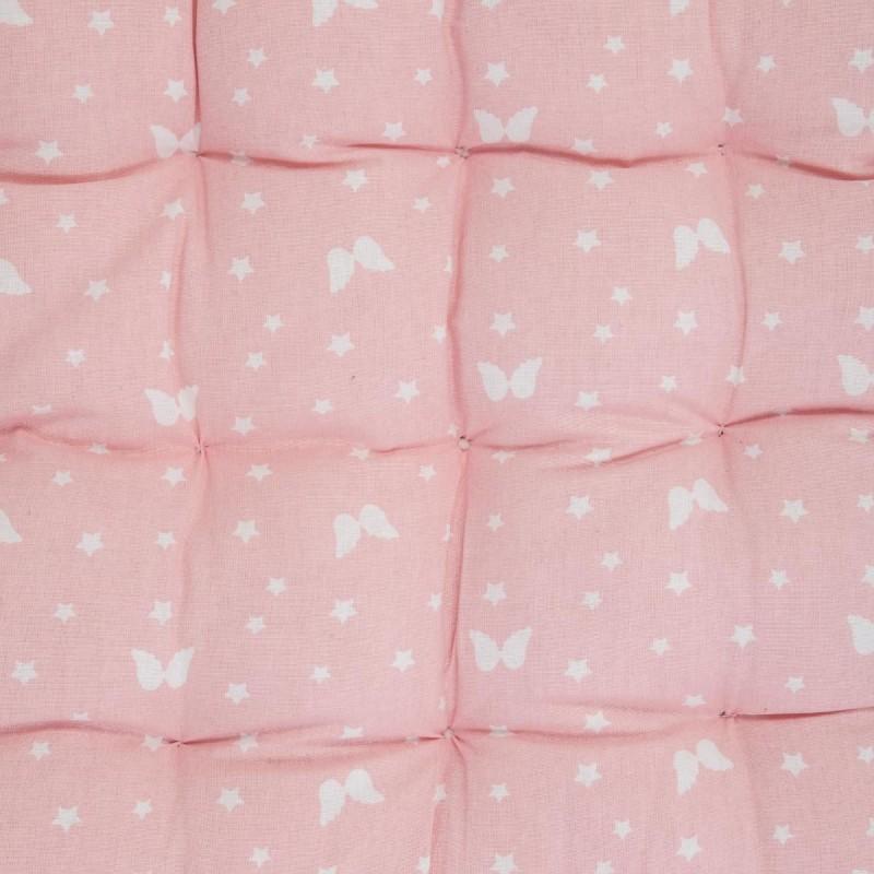 colchon de suelo rosa y alas