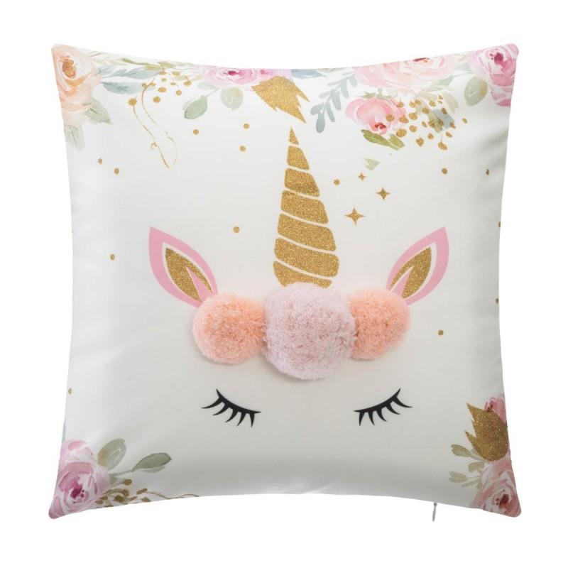 Cojín unicornio pompón  textil Cojines    Muemue - Muebles