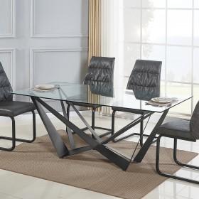 Mesa Comedor W  Salón Mesas de comedor  Patas: patas con nivelador; Material Principal: metal pintado en negro; Espesor Material