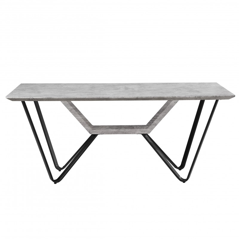 MESA WASHINGTON  Home Hogar  Material Principal: base: metal pintado en negro; Espesor Material Principal: top: mdf cuebierto co