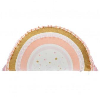 Cojín arcoiris pompon