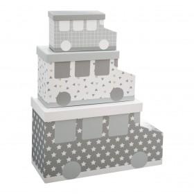 Set 3 cajitas de coche Decoración Infantil Cajas y cestos Muemue - Muebles