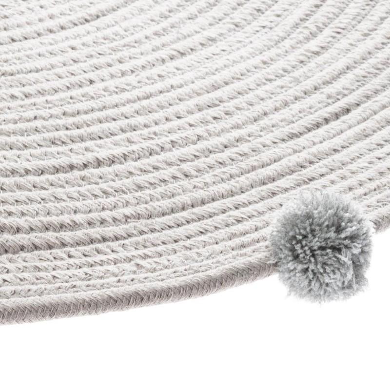 Alfombra borlas  textil Alfombras COLORES DISPONIBLES: rosa pastel, gris   Muemue - Muebles