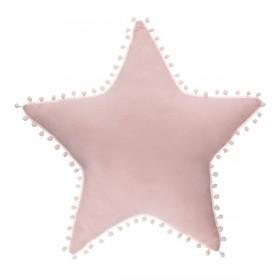 cojín estrella con pompones  textil Cojines    Muemue - Muebles