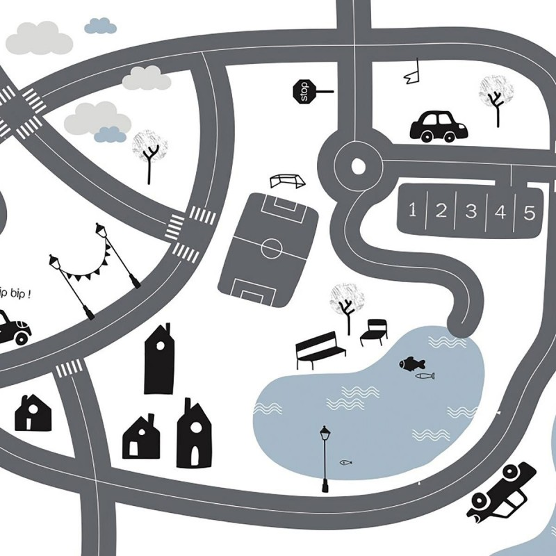 Mesa coches y ciudad