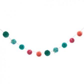 Guirnaldas luminosas pompones color