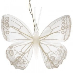 Led de mariposas blancas