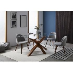 Mesa stacy Salón Mesas de comedor COLORES DISPONIBLES: roble, blanco, nogal Incluye herramientas: si - incluye herramientas;