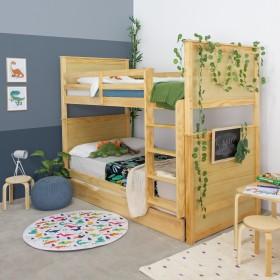 PROMOCIÓN Litera triple + COLCHONES  Muebles juveniles Camas y literas COLORES DISPONIBLES: pino  DISTRIMOBEL Muemue - Muebles