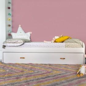 Cama compacta blanca, 2 camas + 2 cajones