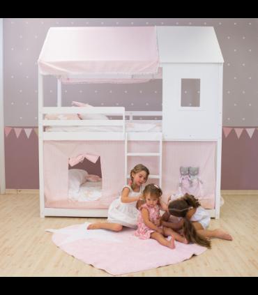 Litera infantil montessori casita - ventana y tejado se pueden cambiar de lado  Home Montessori COLORES DISPONIBLES: blanco, pin