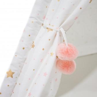 Tipi pompon rosa