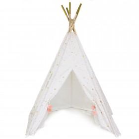 Tipi pompon rosa  Decoración Infantil Tipis y Techos  Material Principal: algodón; Medida producto alto: 160 cm; Medida producto