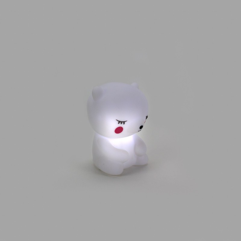 OURS EN PELUCHE BLANC LED  DECORATION  The package fits in the