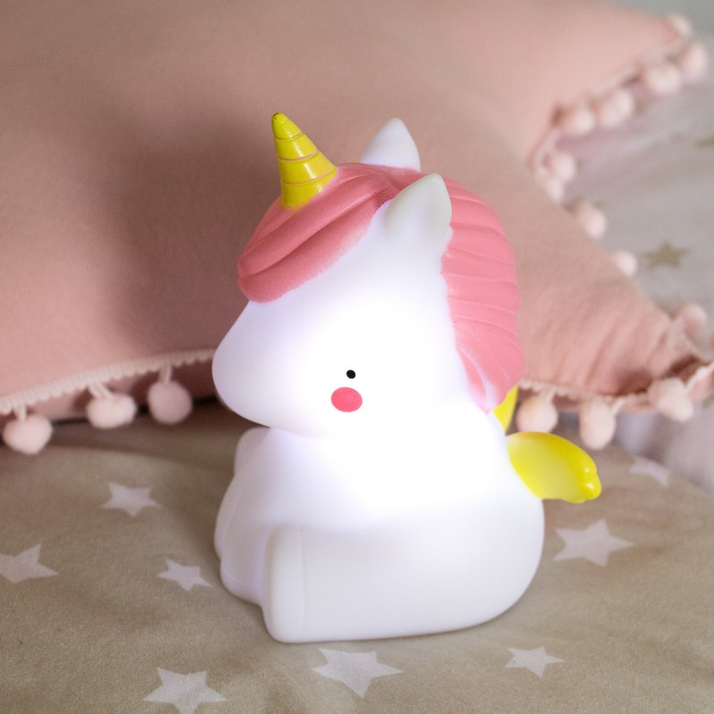 LICORNE LED ROSE ET BLANC  DECORATION  The package fits in the