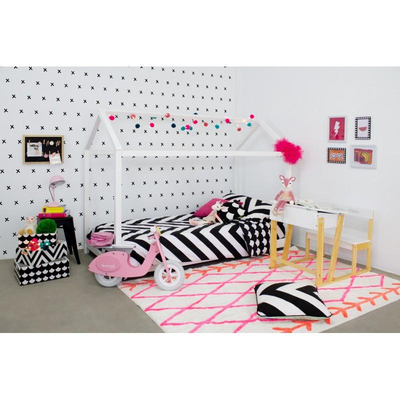 Set 3 cajas de madera decorativas blanco y negro  Infantil y juvenil   DISTRIMOBEL