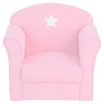 sillón rosa y puntos