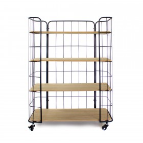 Estantería metálica de 4 plantas  Muebles juveniles Estanterías infantiles y estantes    Muemue - Muebles