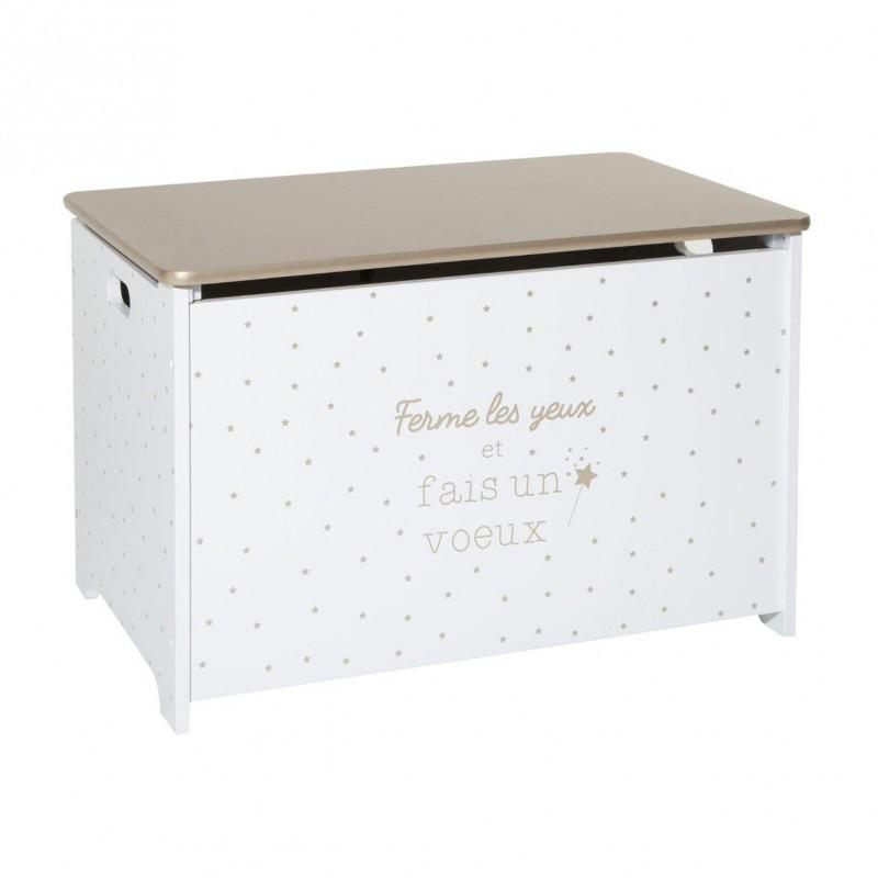 Baúl de juguete STAR dorado de madera  Decoración Infantil Cajas y cestos    Muemue - Muebles