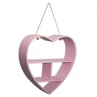Estantería corazón rosa