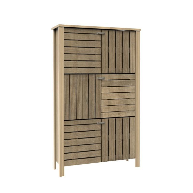 Stripes scarpiera 3 porte 134,5x81x27,5cm