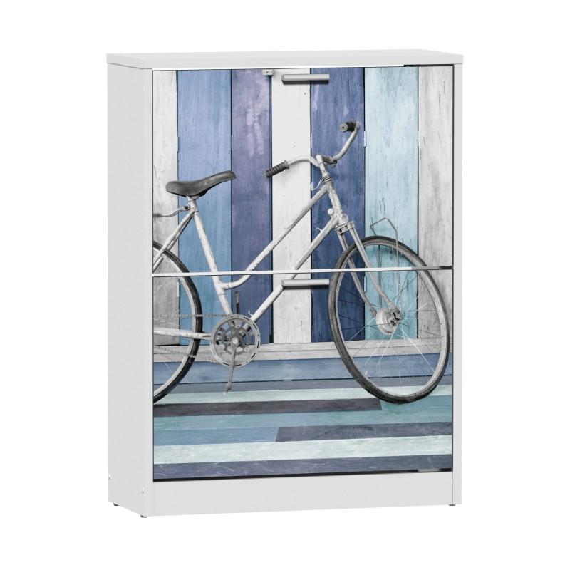 Wooden House bicycle sapateira 2 portas 82x60x24,2cm