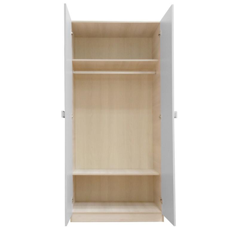Pastel armoire jeune 2 portes 200x91x55,5cm