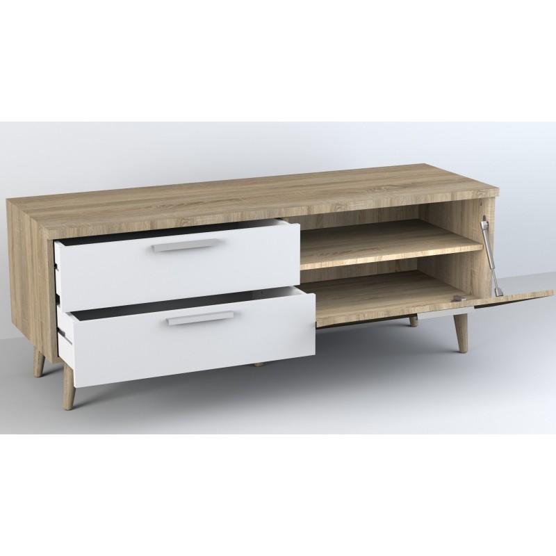 Anna meuble TV avec tiroires 52,4x137,6x45cm