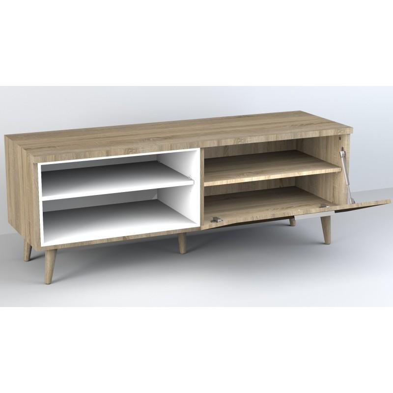 Anna meuble TV avec étagères 52,4x137,6x45cm