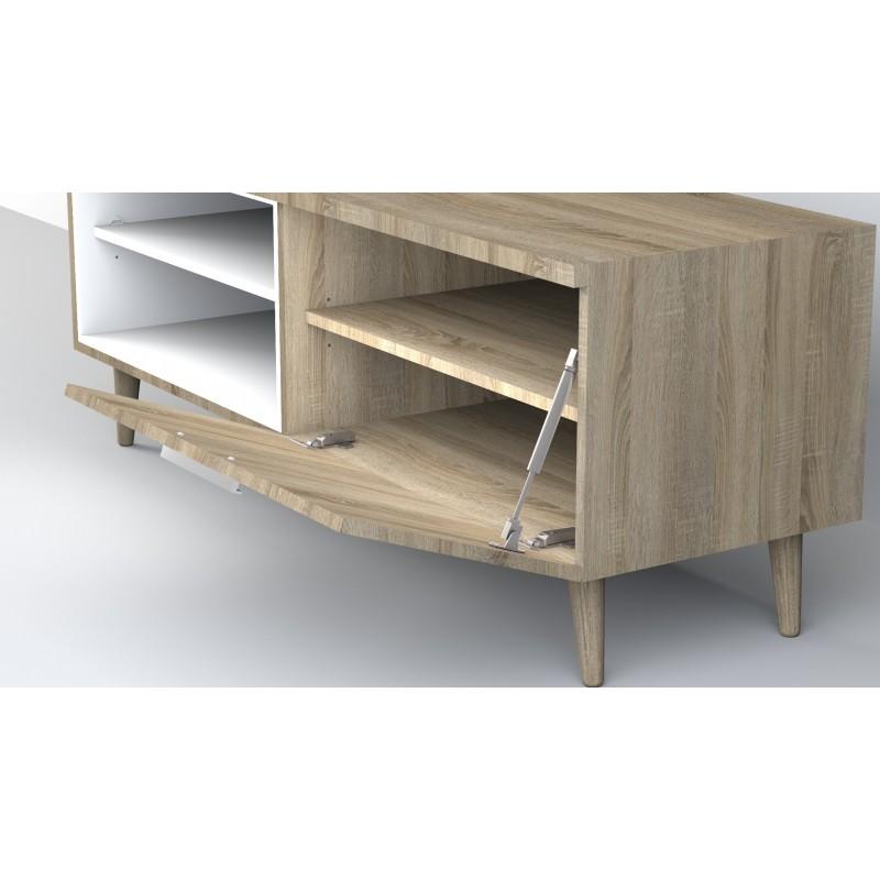 Anna mueble TV con estantes 52,4x137,6x45cm