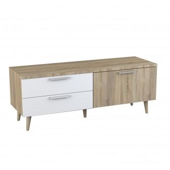 Tavolo tv in legno e bianco
