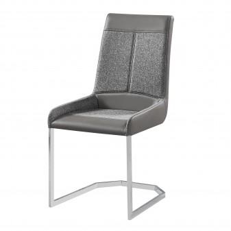 copy of Coussins noir polipiel chaise gris