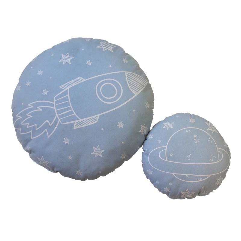Space Set 2 coussins infantiles rondes