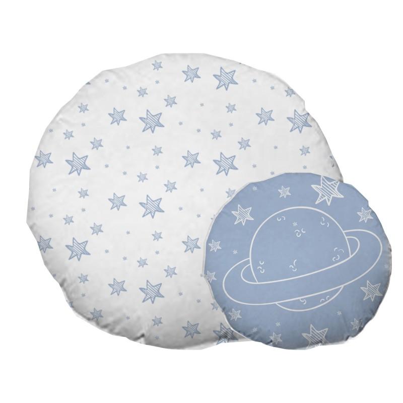 Space Set 2 cuscini rotondi per bambini
