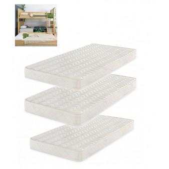 Confezione 3 materassi per letto a castello tripla