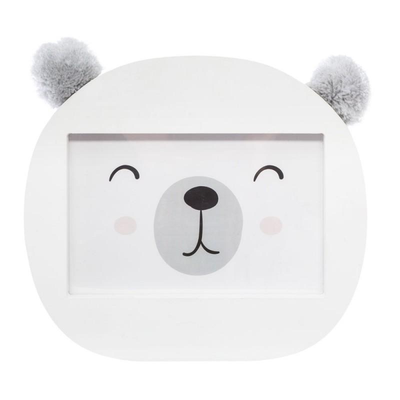Cadre photos ours oreilles à pompons