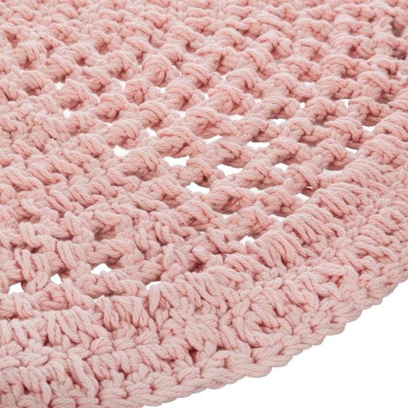 Crochet tapis rose ø90cm