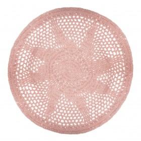 Alfombra crochet Rosa - 90 cm