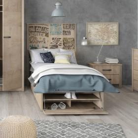 Canapé - scarpiera di legno 90