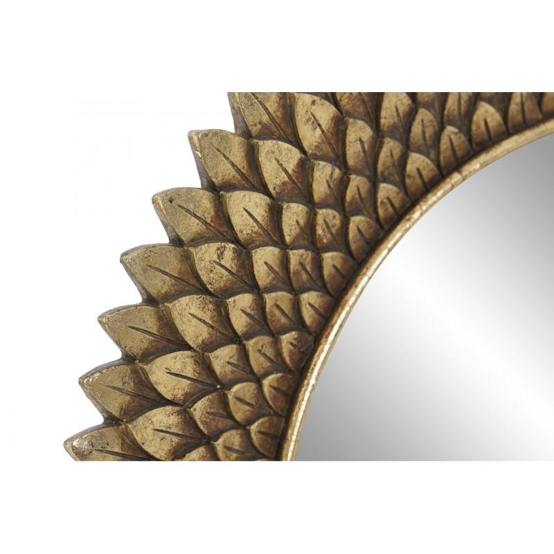 Leaves espejo decorativo dorado 32øcmx3cm