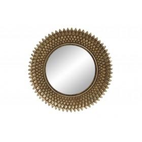 Leaves espelho decorativo dourado 32øcmx3cm
