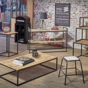 Oxford Tavolino industriale 32,5x115x65cm