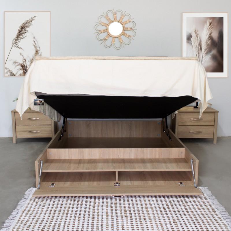 Verona Pack cama canapé com cabeceira e 2 pequenas mesas