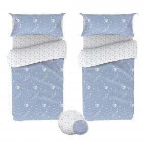 Pack 2 capas de edredão para crianças grátis almofadas. Camas 90/105x190/200cm