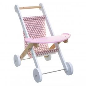 Pepa carrinho de madeira rosa 47x29,5x44,5cm