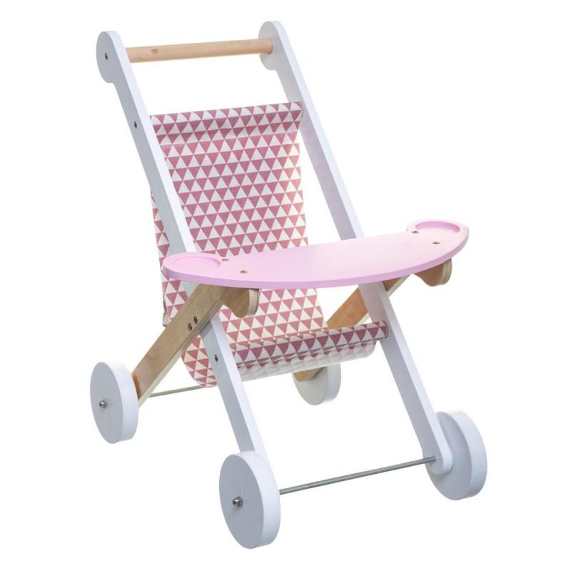 Pepa chariot en bois rose 47x29,5x44,5cm